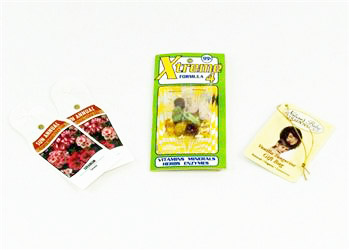 Sample packets and Display tags